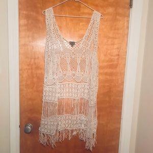 Knit Crochet Boho Sumner / Bathing suit Cover up